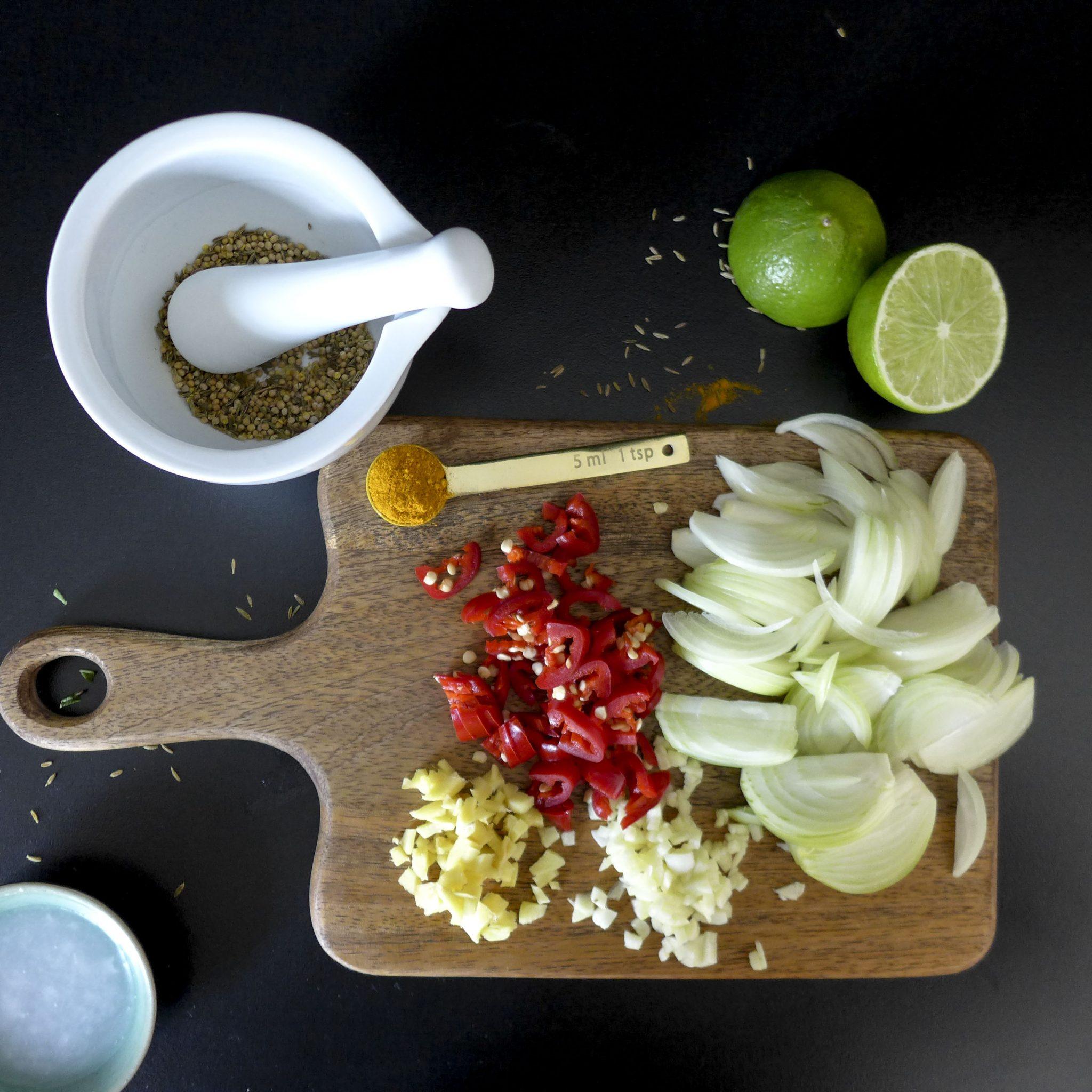 Turmeric Salmon preparation_1